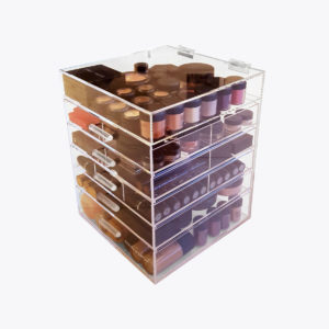 Kardashian style Make-up Organizer Clear Cube lades